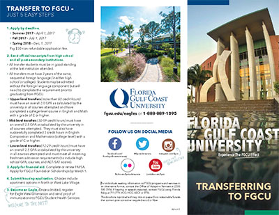 Admissions Transfer Brochure graphic