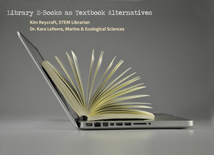 Library e-books as textbook alternatives