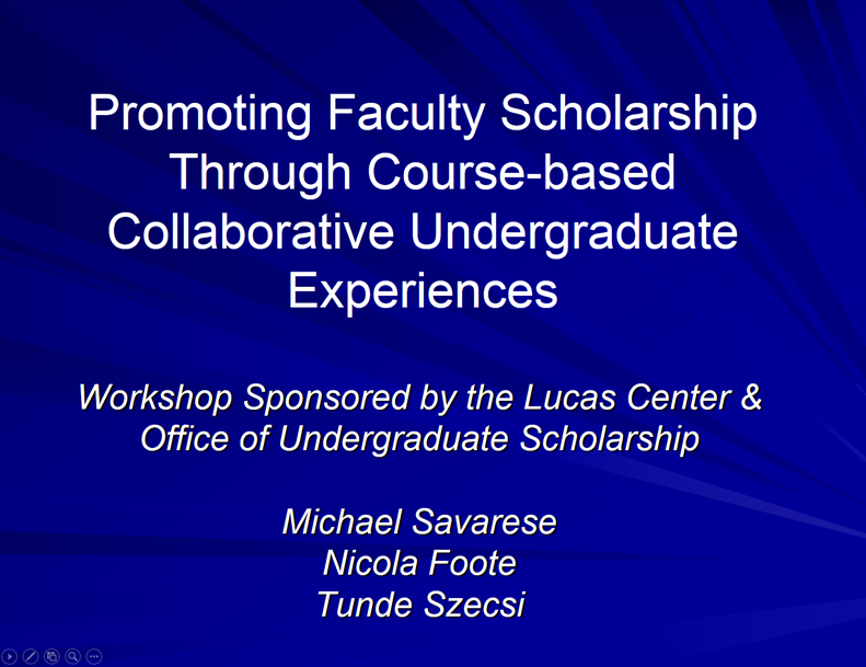 promoting faculty scholarship