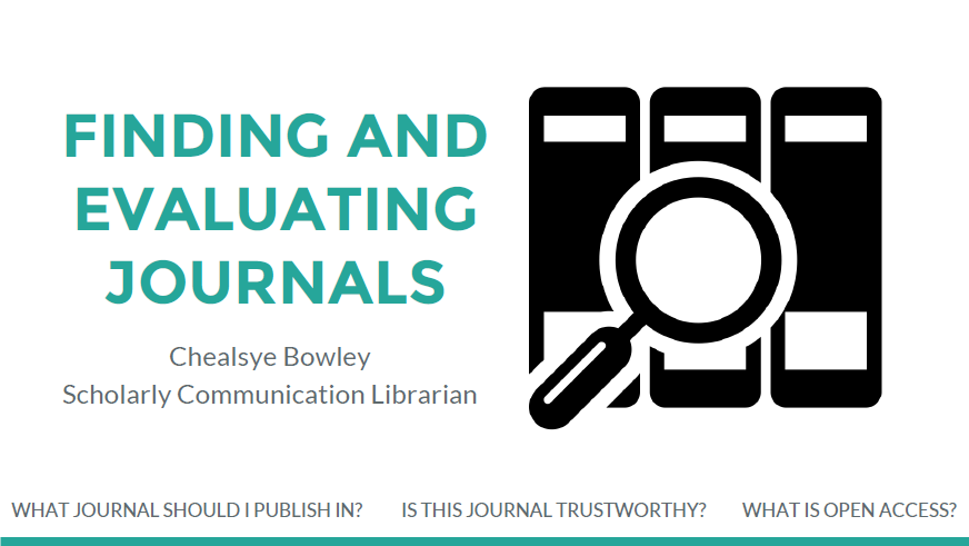 Finding and Evaluating Journals