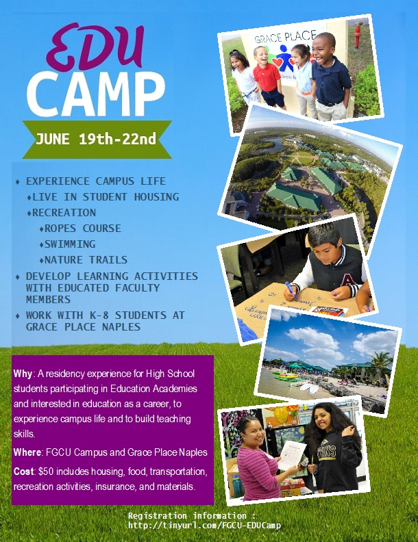 EduCamp Flyer with Information