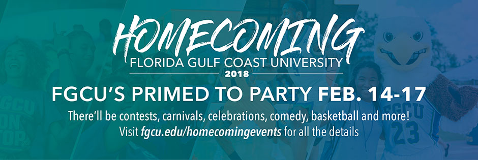FGCU Homecoming 2018 graphic