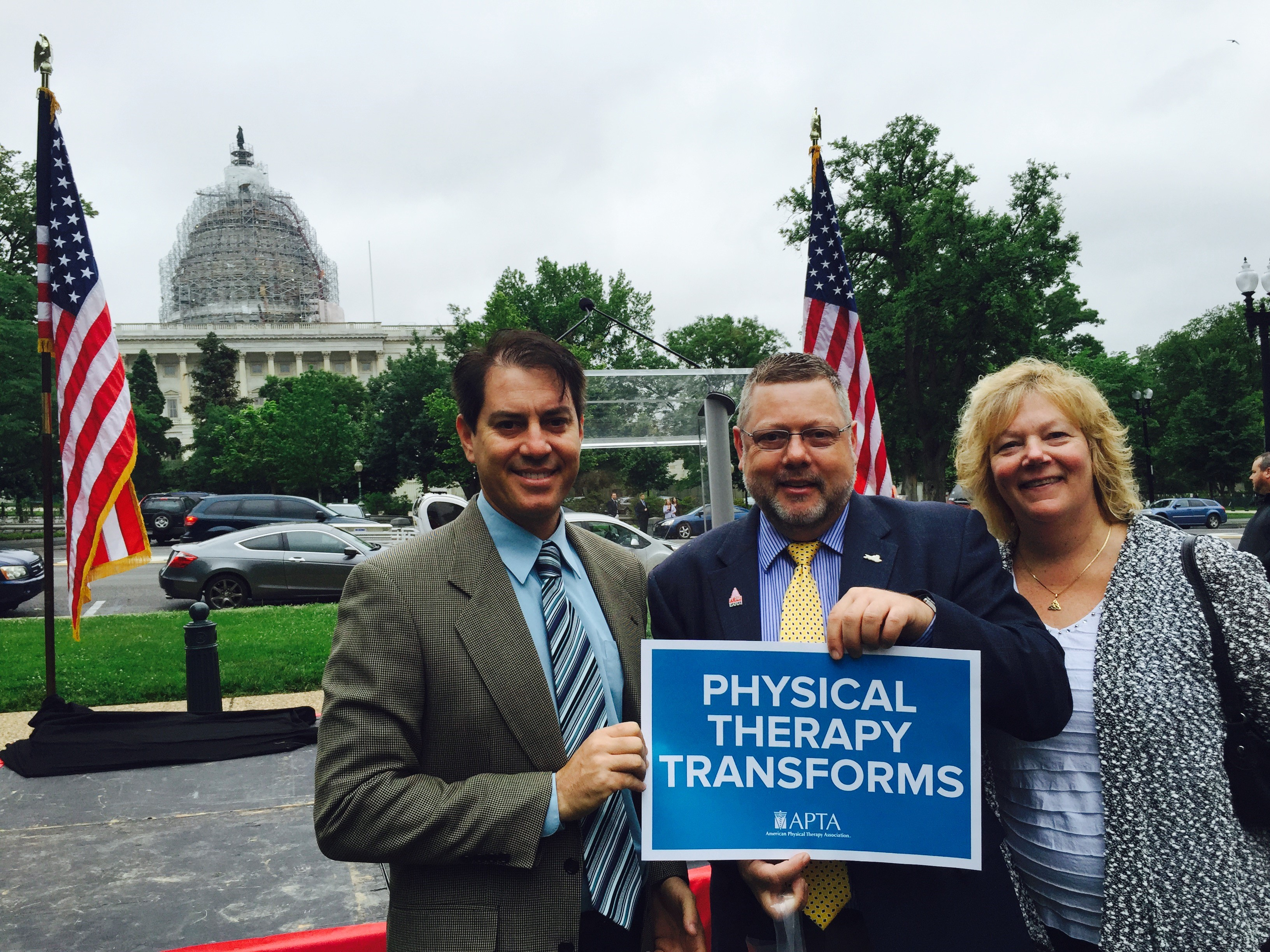 Arizona physical therapy association - Dr Eric Shamus Dr Arie Van Duijn Dr Kathy Swanick At Washington Dc For Physical Therapy Day At The Hill